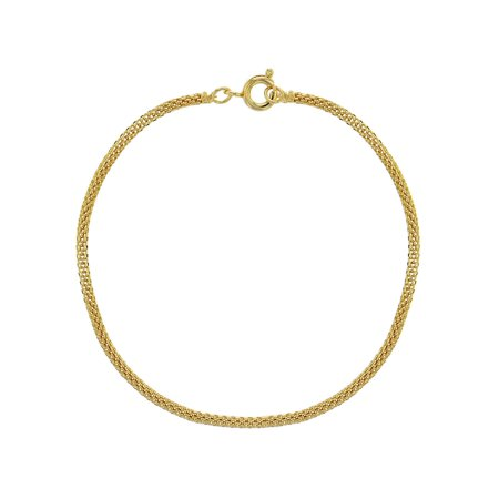 18k Gold Plated Thin Mesh Tube Chain Women Bracelet