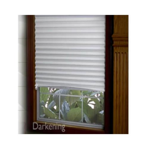 Redishade 3332290 Original Pleated Window Shade, Room Darkening, Peel & Stick, Gray Paper, 36 x 72-In.