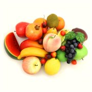 Decorative Realistic Artificial Fruits, Assorted Color - Pack of 32