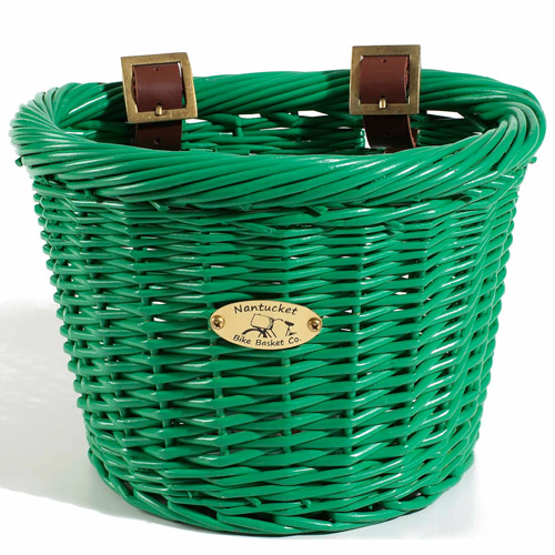 Child's Gull Basket, D-Shape, Green