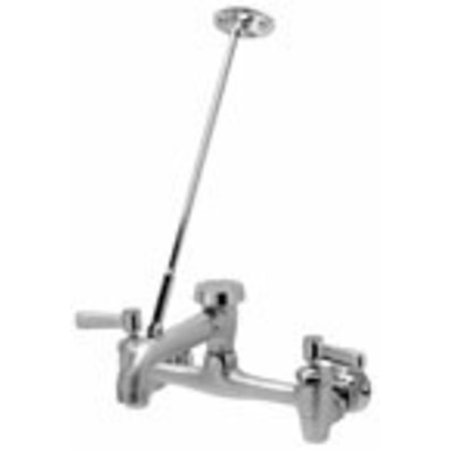 Zurn Z843M1-RC Sink Faucet with 6in Vacuum Breaker Spout, Lever Handles, Pail Hook, 3/4in Hose End and Brace ()