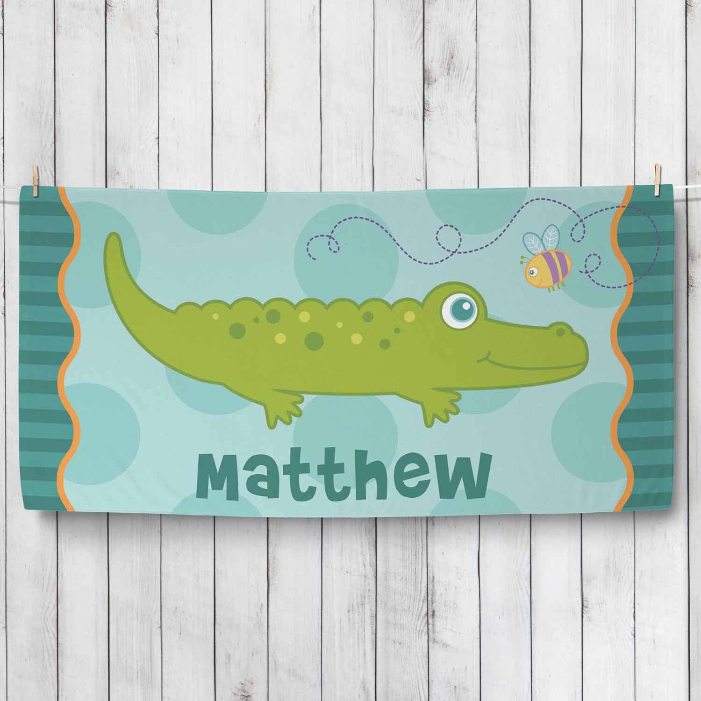 Personalized Sweet Alligator Towel, Boy