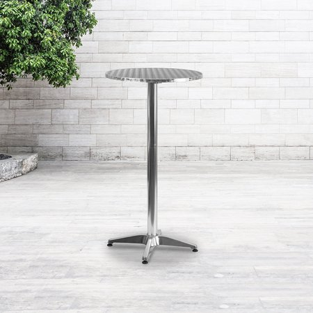 2-Foot Round Aluminum Indoor-Outdoor Folding Bar Height Event Table
