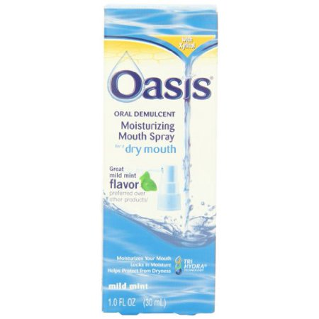 2 Pack - Oasis Moisturizing Mouth Spray Mild Mint 1oz Each ()