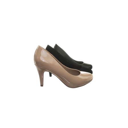 Molly Mid Heel Pumps (GuideW by City Classified, Classic Wide Width Comfortable Foam Padded Mid Heel Round Toe Dress Pump )