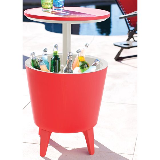 Keter 7 5 Gallon Cool Bar Patio Beverage Cooler Table - Walmart com