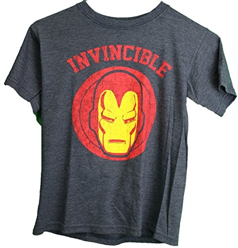 Marvel Iron Man Invincible Distressed Logo Youth Boy's T-Shirt