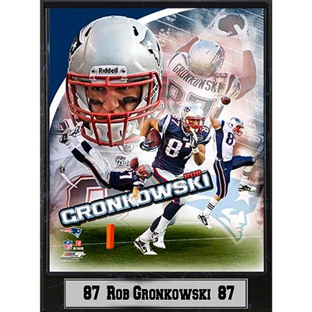 Nfl Rob Gronkowski Photo Plaque  9X12