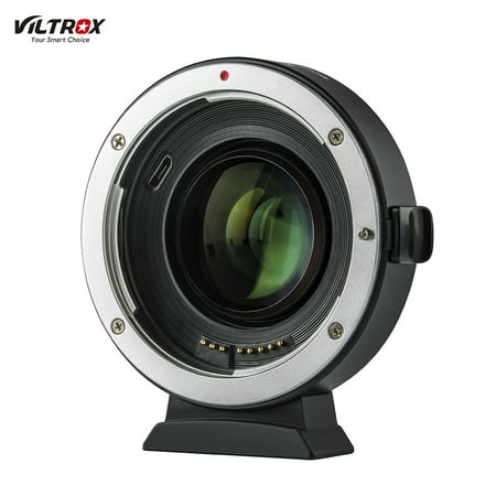 Viltrox EF-EOS M2 Auto Focus Lens Mount Adapter Ring 0.71X Focal Lenth Multiplier USB Upgrade for Canon EF Series Lens to EOS EF-M Mirrorless Camera for Canon EOS M/ M2/ M3/ M5/ M6/ M10/ M50/ M100