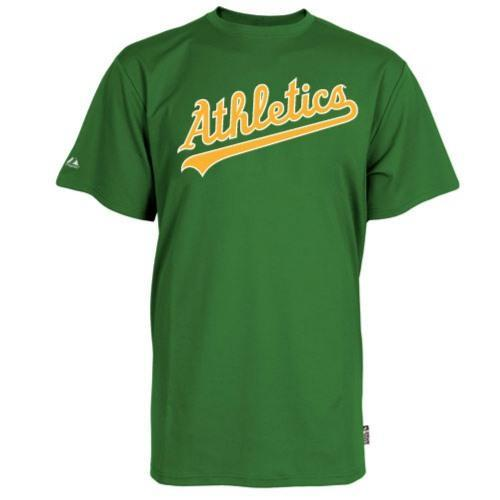 Oakland Athletics Replica Baseball T-Shirt 100% Cool Mesh Fabric - Adult