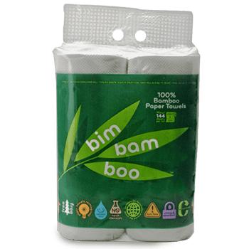 Bim Bam Boo Paper Towels 4 Mega Rolls Walmart Com