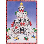 Pipsqueak Productions C472 Holiday Boxed Cards- Dalmatians