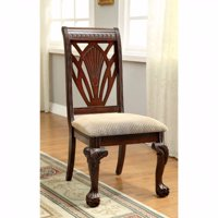 Traditional Side Chair, Cherry Finish, Set Of 2