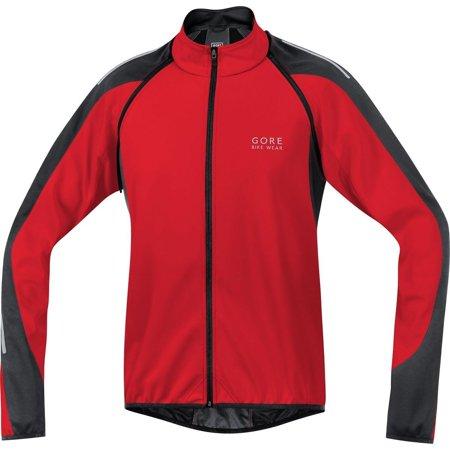 Gore Bike Wear, Men´s, 2 in 1 road cyclist jacket, GORE WINDSTOPPER Soft Shell, PHANTOM 2.0, Size M, Black/Neon Yellow, JWPHAM Red/Black (Gore Bike Wear Road Gloves Gtx 1)
