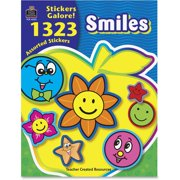 Teacher Created Resources, TCR4223, Smiles Stickers Galore Book, 1323 / Pack, Assorted