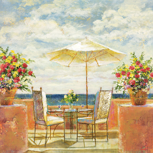 "Umbrella Patio 24"" x 24"" Canvas Wall Decor by"