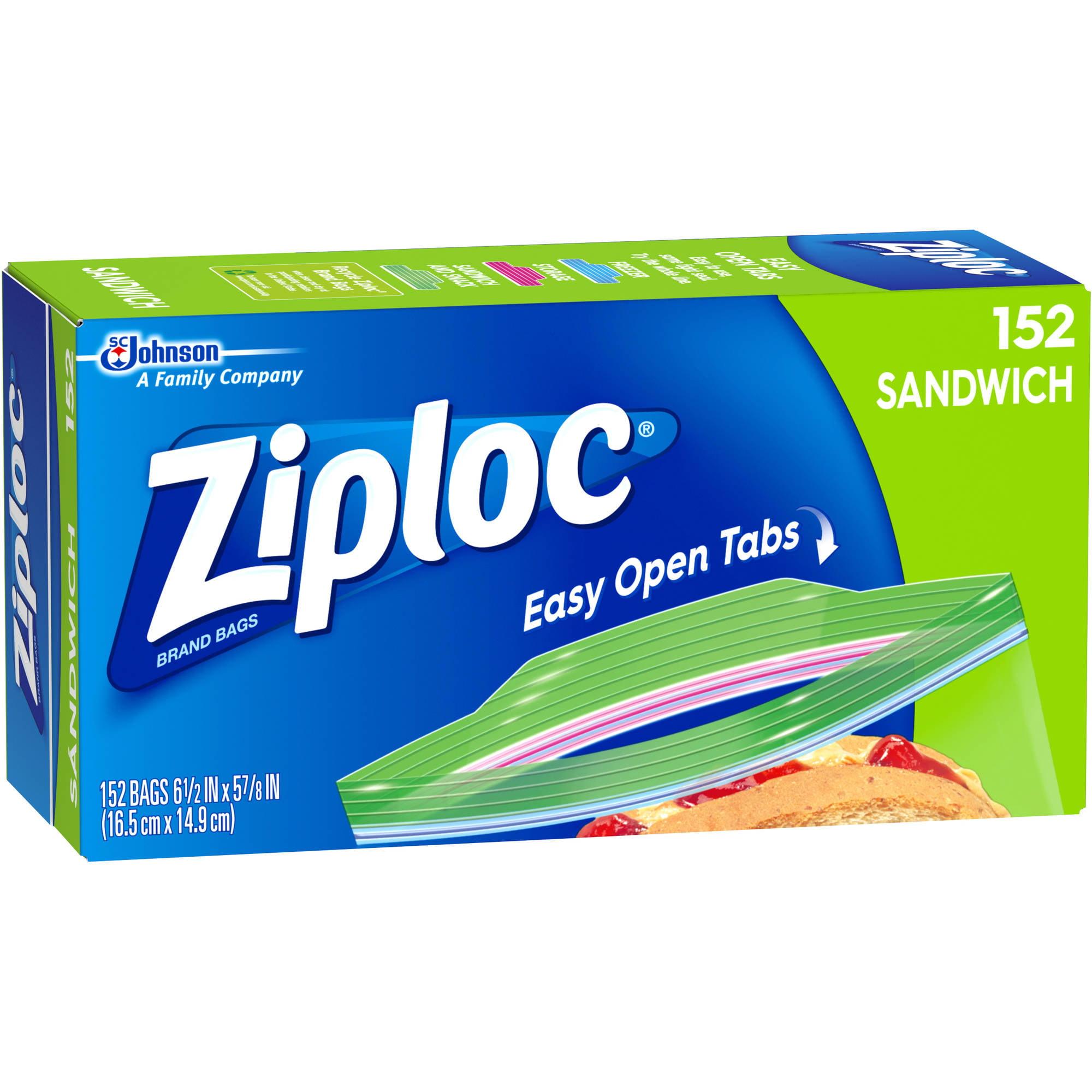 Ziploc Sandwich Bags, 152 count