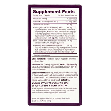 Best Reserveage Nutrition - Menopause Advantage - 60 Vegetarian Capsules deal
