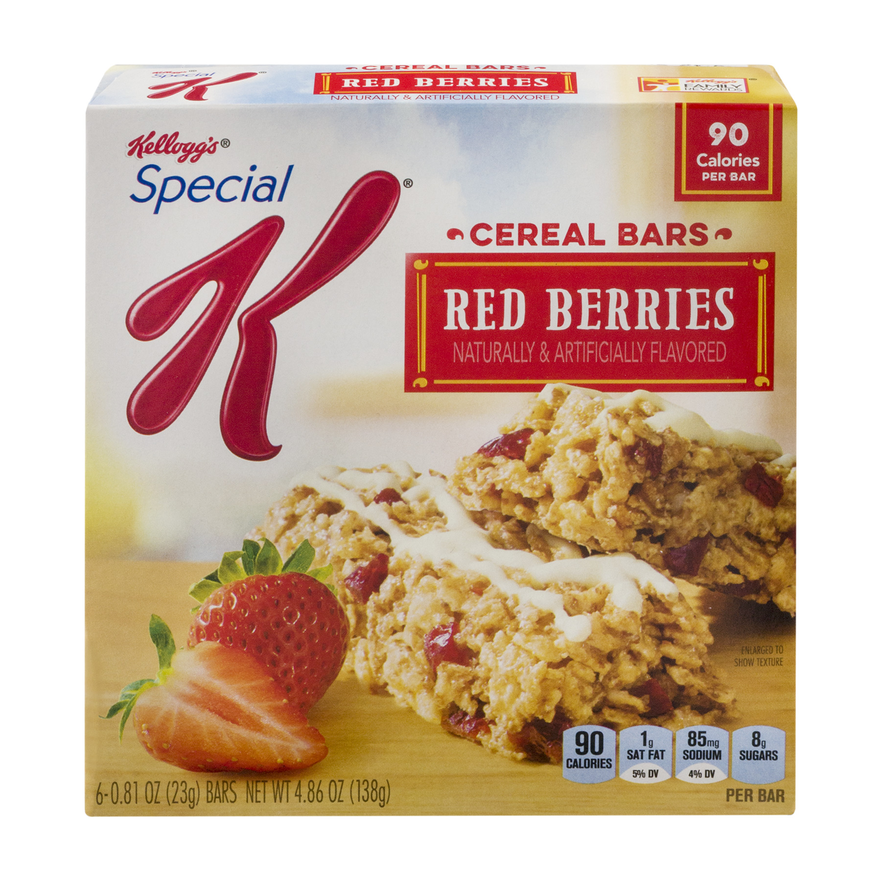 Kellogg's Special K Red Berries Cereal Bars, 0.81 oz, 6 count