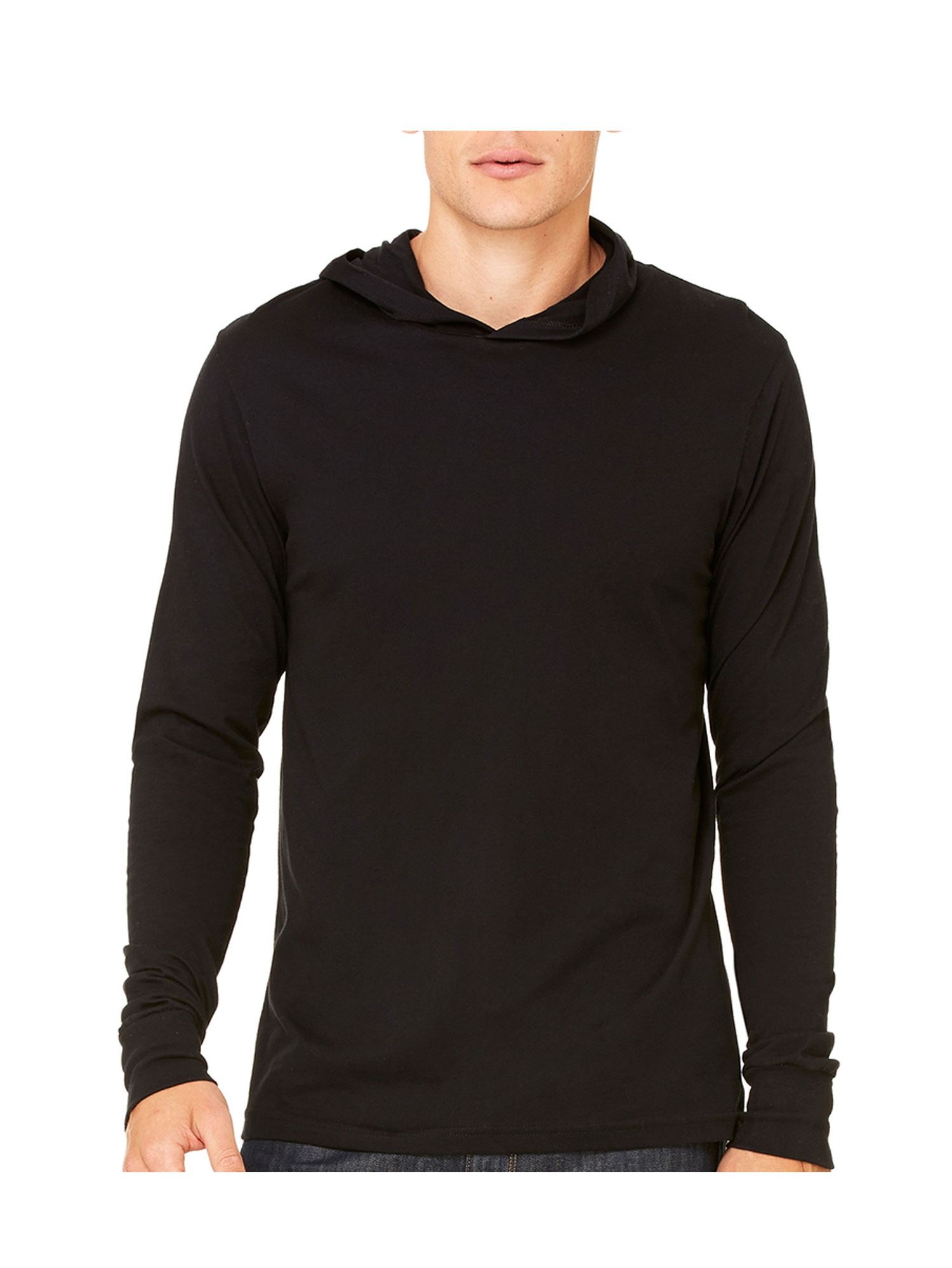 Bella Canvas Adult Jersey Long-Sleeve Hoodie