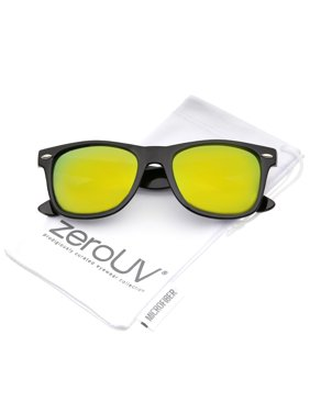 07a9683331cd6 Product Image zeroUV - Retro Colored Mirror Polarized Lens Square Horn  Rimmed Sunglasses 55mm - 55mm