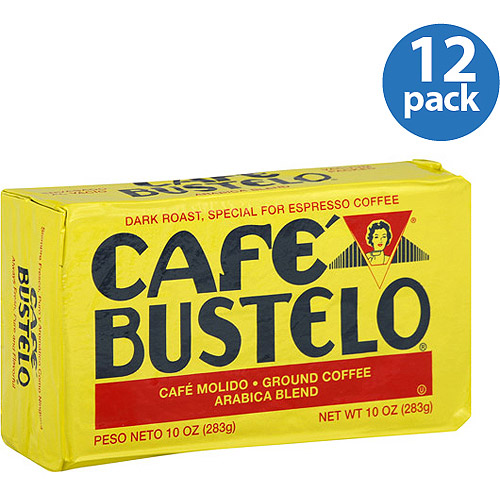 Cafe Bustelo Dark Roast Ground Coffee, 10 oz, (Pack of 12)
