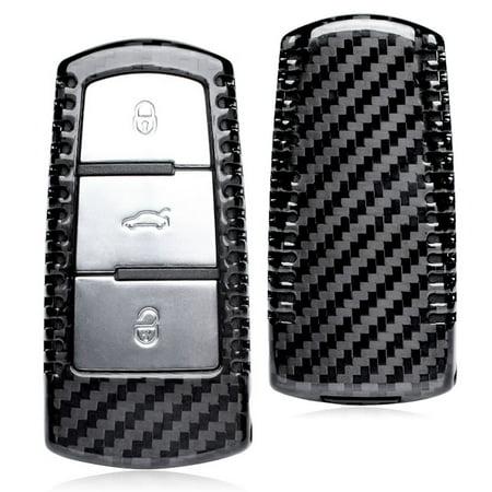 GZYF 1PC Front&Back Auto Genuine Carbon Fiber Remote Car Key Case For VW Volkswagen CC MAGOTAN