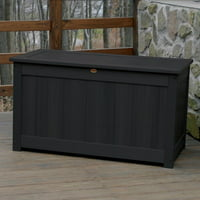AD-DBXL1-BKE Recycled Plastic Black Lawn & Garden Outdoor Traditional Furniture Deck Storage Box-Made in USA