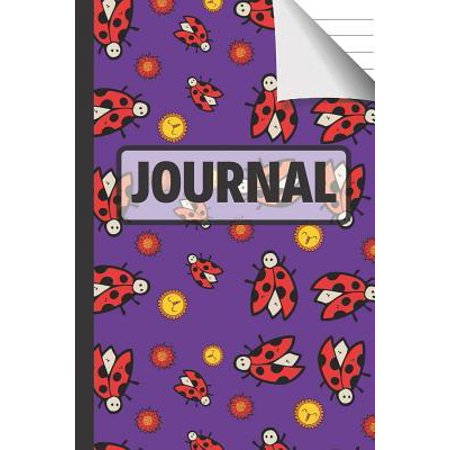 Journal: Pretty Purple Lady Bug Journal with Suns & Flowers for Kids, Girls and Boys Paperback