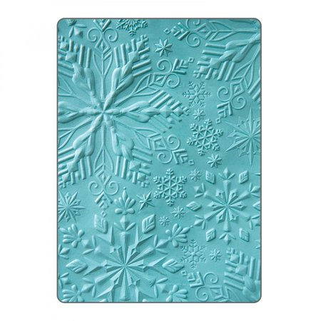Embossing Trim - Sizzix 3-D Textured Impressions Embossing Folder Winter Snowflakes by Katelyn Lizardi