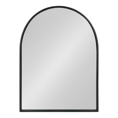 Kate and Laurel Valenti Metal Frame Arch Wall Mirror, Black, 24x32 ()