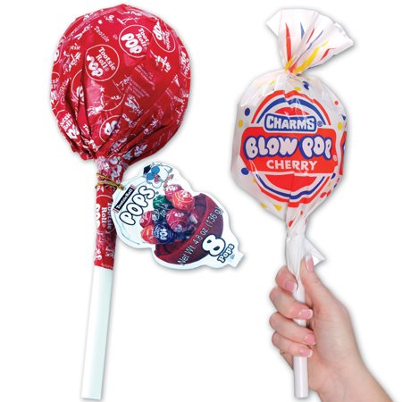 Giant 8-Piece Tootsie Pop And Giant 8-Piece Blow Pop Candy Assortment - Shape Giant Lollipop