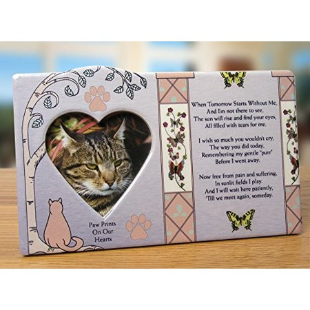 Cat Memorial Message Photo Frame Remembrance (Cat Frames Online)