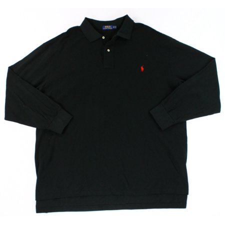 polo ralph lauren new black mens size big 4x long sleeve