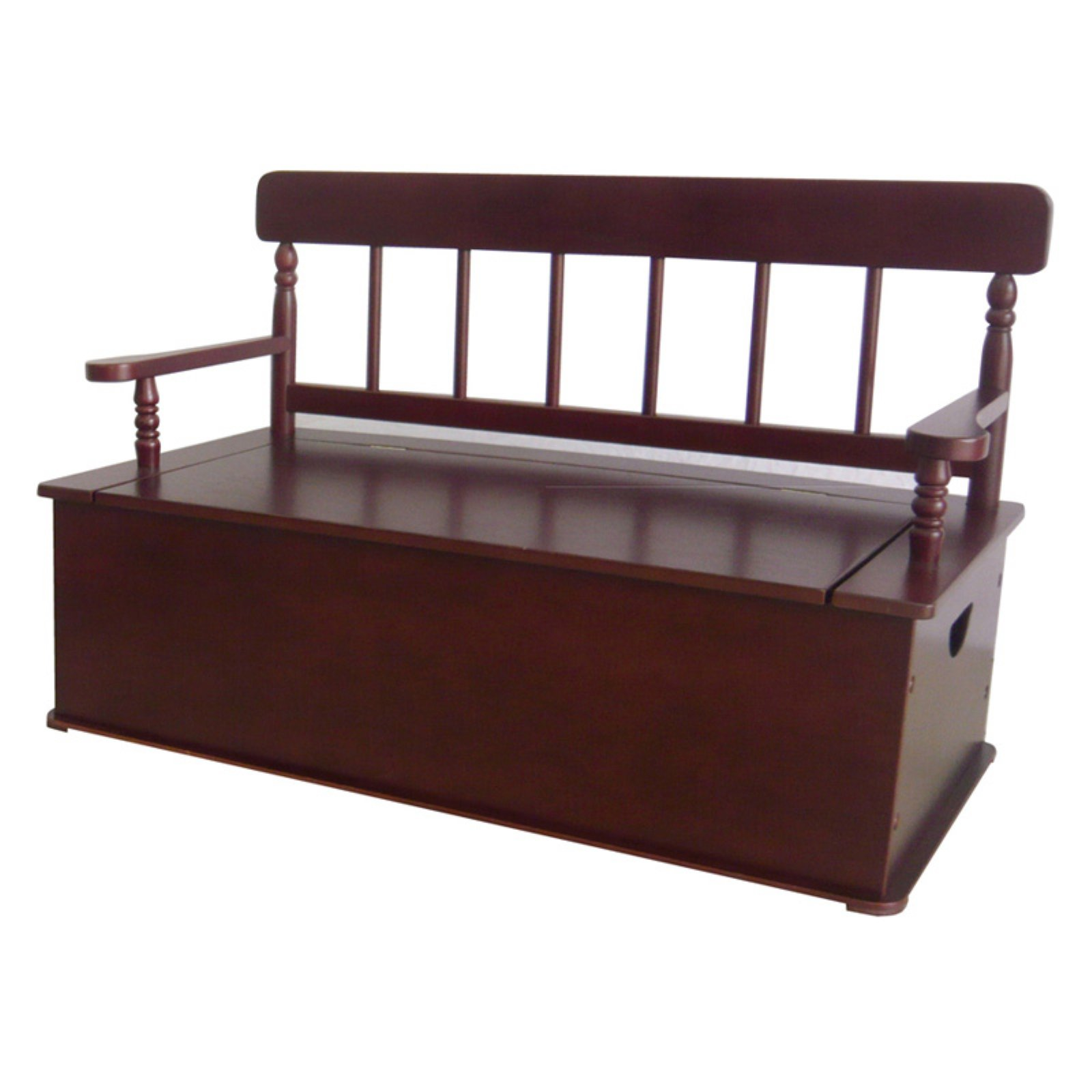Wildkin Bench Seat w/ Storage - Cherry Finish