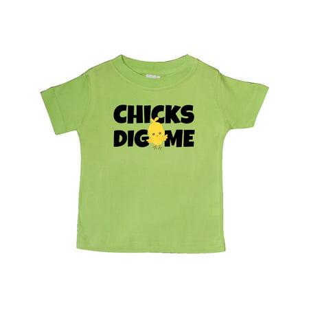 d25af5280 Inktastic - chicks dig me Baby T-Shirt - Walmart.com