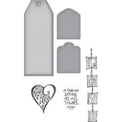 Spellbinders Stamp, & Die Set, Love