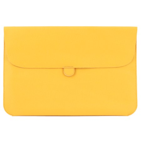 11.6 ,12  PU Leather Shockproof Notebook Laptop Sleeve for Macbook Yellow - Leather Boot Covers