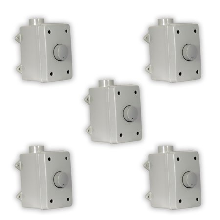 (Theater Solutions OVCDG Outdoor Volume Controls Gray Weatherproof Dial 5 Control Set)