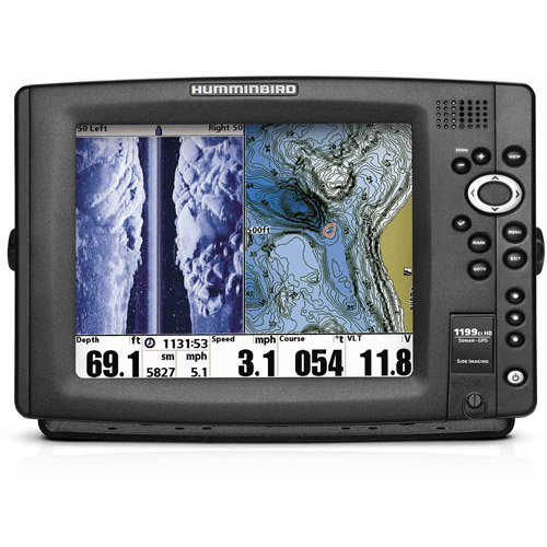 "Humminbird 1199ci HD SI GPS/Sonar Combo, 10.4"", 600 x 800 Color, Side Imaging Temp/Speed"