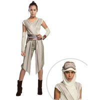 Adult Star Wars The Force Awakens Deluxe Rey Costume and Star Wars: The Force Awakens - Rey Adult Eye Mask with Hood