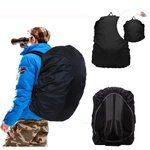 iClover UltraLight Backpack Rain Cover Waterproof Dustproof Breathable Cover (30L-40L) Suitable for Hiking / Camping / Traveling Outdoor Activities(Black)