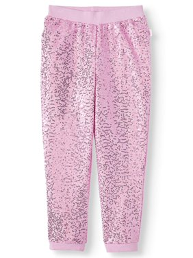 JoJo Siwa Sequin French Terry Jogger Pant (Little Girls & Big Girls)