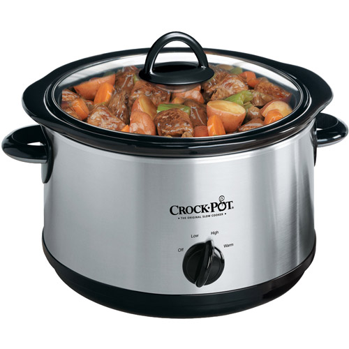 Crock-Pot 5-Quart Round Manual Stainless Steel Slow Cooker, SCR-500SS