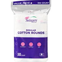 Swisspers 100% Cotton Rounds Value Pack, 300 count