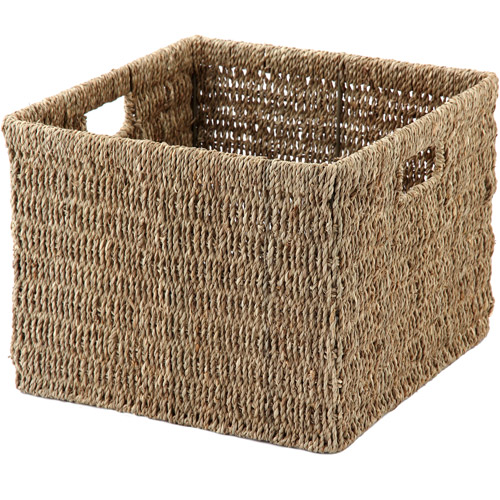 Mainstays Crate Light Seagrass Basket