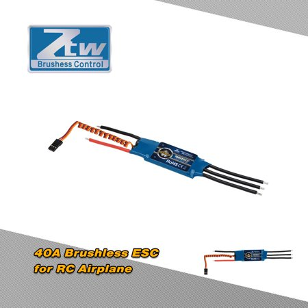 Original ZTW Beatles 40A 2-4S LiPo Battery Brushless ESC Electronic Speed Controller with 5V/3A BEC for 400-500 Class Fixed-wing RC Airplane