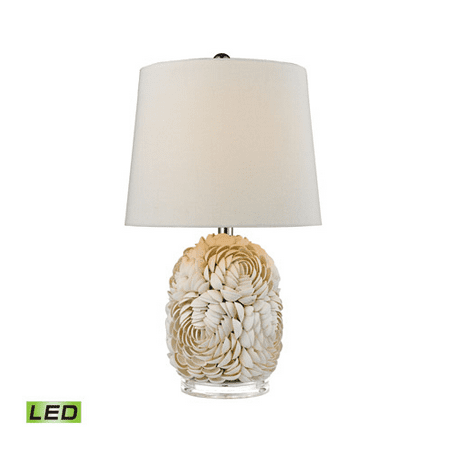 95 Wireless Crystal - Table Lamps 1 Light With Natural Shell Shell and Crystal Medium Base 23 inch 9.5 Watts