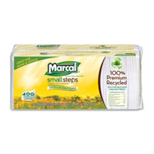 Marcal Paper Mills, Inc MRC6506CT Luncheon Napkin, Single-Ply, 12. 5 inch x 11. 25 inch, 2400-CT, White