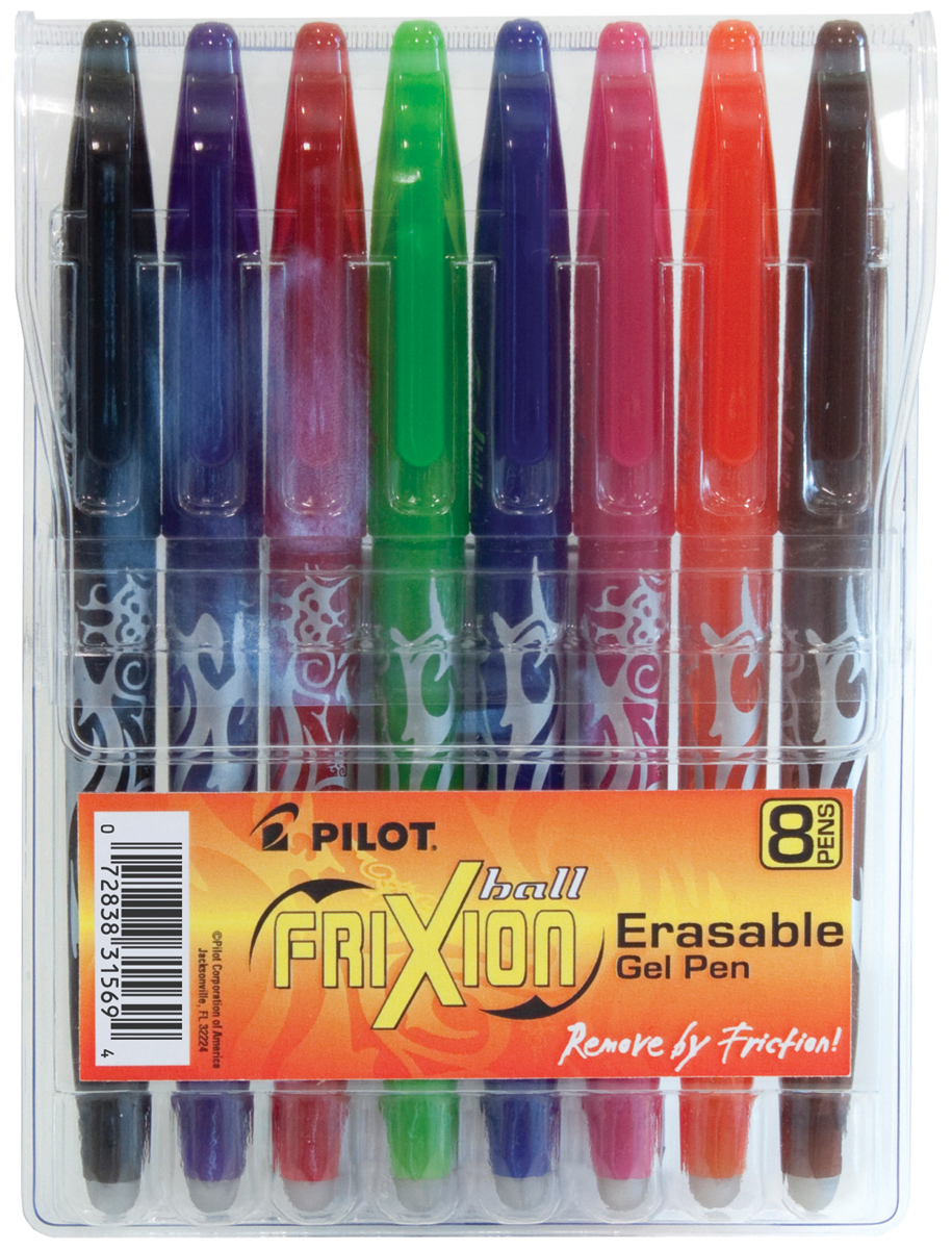 Pilot FriXion Ball Erasable Gel Pens 8/Pkg-Assorted Colors